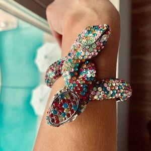 Swarovski Multi Colored Snake Bracelet